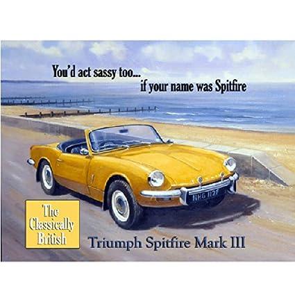 Amazon com: Triumph Spitfire mark III Metal Sign