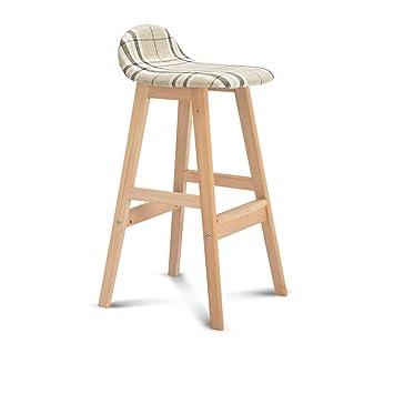 Amazon.com: Chairs MEIDUO Bar stools Bar Solid Wood Bar ...