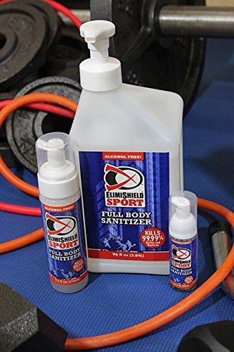 ElimiShield Sport Full Body Skin Sanitizer Refill - Odor Eliminator Formula Kills Sweat Odor Bacteria (96oz)