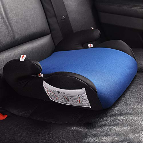XIAOKEKE Baby Safety Car Seat Thicken Chairs Cushion for Child and Kids in Car 3~12Y Portable Travel Kids Booster Car Seat Blue 343617cm