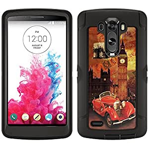 Skin Decal for Otterbox Defender LG G3 Case - London Retro Bus