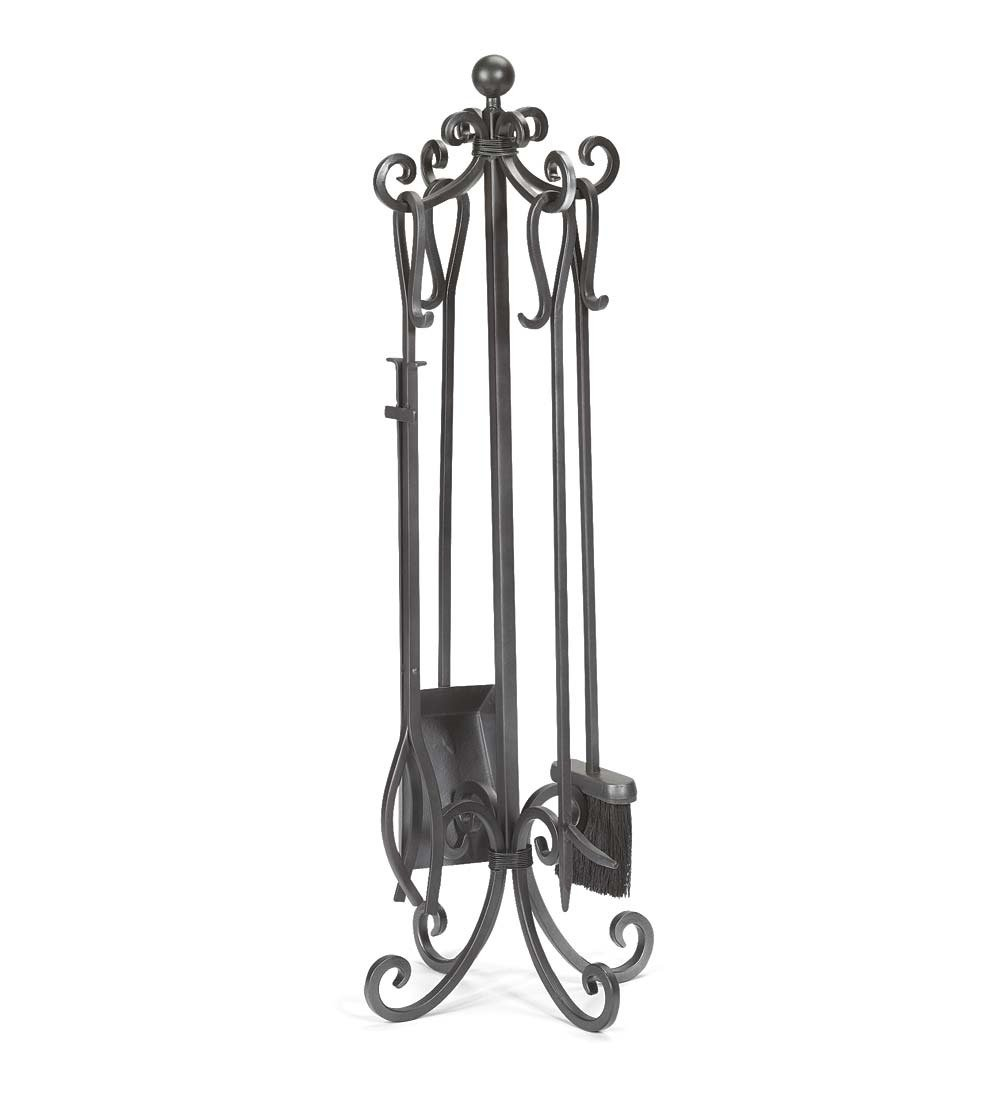 Wind & Weather Crest Fireplace Tool Set Plow & Hearth 13920-PWT