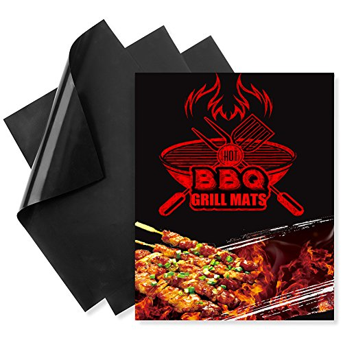 3 - ROSIMO 100% Non-stick Miracle BBQ Grill & Baking Mats-As Seen on TV, Heavy Duty,Reusable and Easy to Clean, - 15.75 x 13 inches (Tec Electric Rotisserie)