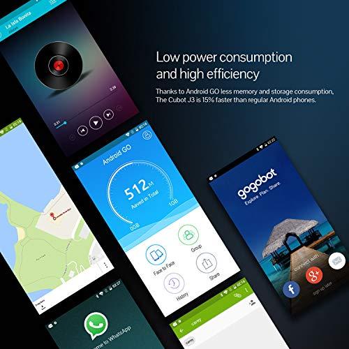 CUBOT J3 Android Go Smartphone Unlocked, 5 0 inch (18:9) Touch Screen, 1GB  RAM+16GB ROM,3G Dual SIM, 8MP+5MP Dual Camera, WIFI, GPS,