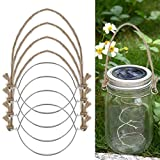 CHICTRY Silver Stainless Steel Wire Handles for Regular Mouth Mason Jar Ball Pint Jar Canning Jars Hanger Night Lamp Flower Candle Holder Burlap Handles6 One Size