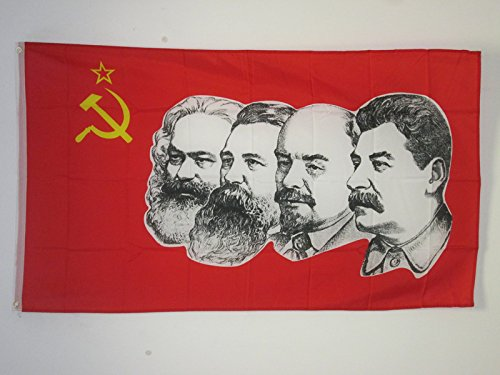 USSR 4 CHARACTERS FLAG 3' x 5' - RED COMMUNIST FLAGS 90 x 15