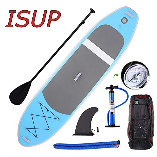 Miageek 10ft Inflatable Stand Up Paddle Board Sup Boards, iSUP Package with Adjustable Paddle, Leash, Pump and Backpack US Stock