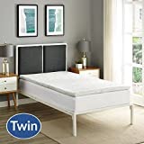 Modway Relax 2 inch Twin Gel-Infused Cooling Certi-PUR US Certified Memory Foam Mattress Topper