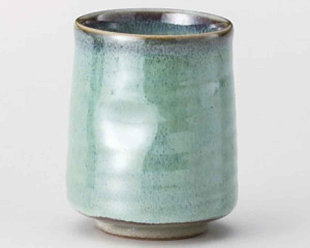 Hiwa Green 6.3cm Japanese Tea Cup Green porcelain Made in Japan watou.asia