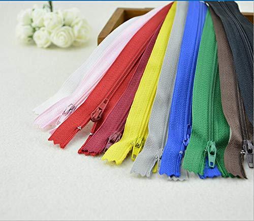 Maslin 15cm 10PCS/Bag New Nylon Coil Zippers Trousers Wallet Bag DIY Craft Zipper Tailor Sewing Tools Garment Accessories - (Color: nav Blue, Size: 3#) - Nav Accessory
