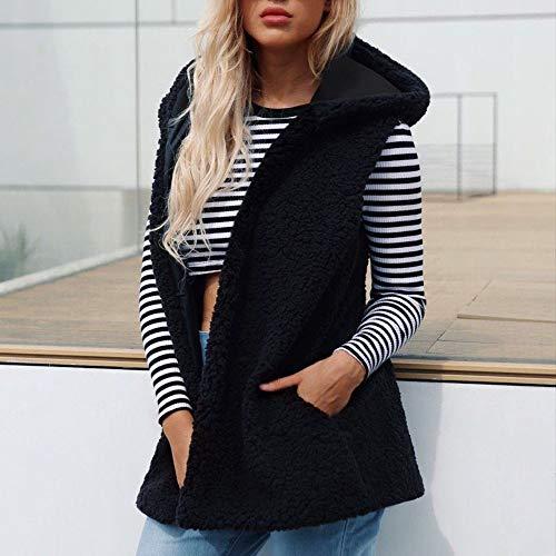 Hiver Poches Veste Gilet Gilet Reaso Chic Jacke Dames Manteau avec Manches Solide Femme Blouson Sweat sans Chaud Pullover f5PHOx