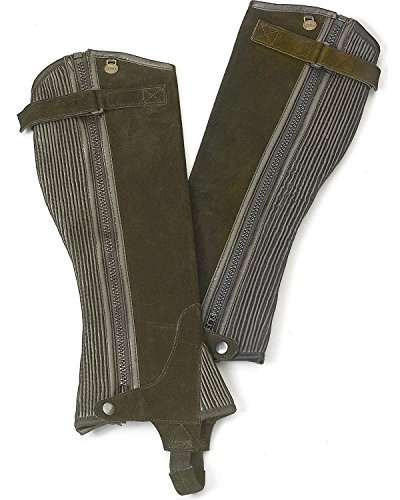 Ovation Women's Ribbed Suede Half Chaps Brown Large US ()