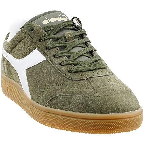 Diadora Mens Kick Casual Sneakers, Green, 8 (Suede Diadora)