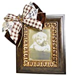 Creative Displays Traditional Picture Frame Embellished by Plaid and Music Note Ribbon