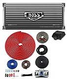 8000 watt mono amp - BOSS AR4000D 4000W Mono D Car Audio Amplifier Amp w/Remote + 4 Gauge Amp Kit Red