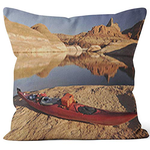 Nine City Kayaking in Lake Powell Throw Pillow Cover,HD Printing for Sofa Couch Car Bedroom Living Room D¨¦cor,40