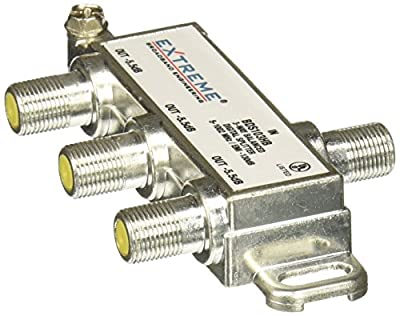 Extreme 3 Way Unbalanced HD Digital 1GHz High Performance Coax Cable Splitter - BDS103H from Extreme Broadband