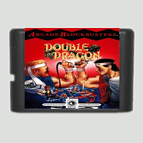 Double Dragon 16 bit SEGA MD Game Card For Sega Genesis ,Sega Genniess-Sega Ninento,16 bit MD Game Card
