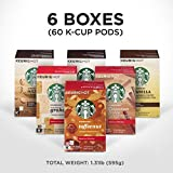 iced coffee hazelnut - Starbucks Flavored Coffee K-Cup Variety Pack for Keurig Brewers, 6 boxes of 10 (60 total K-Cup pods), 60 Count