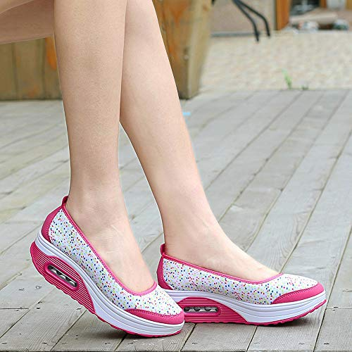 0942c24a28ee2 Colmkley Women Solid Sneakers Wedges Shoes Ladies Zip Sport Shallow Shoes