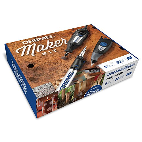 Dremel 2290 3-Tool Craft Hobby Maker Kit with 200-Series Rotary Tool, Engraver Butane Soldering Torch
