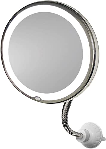 My Flexible Mirror 10x Magnification 7 Make Up Round Vanity Mirror For Home Bathroom Use With Super Strong Suction Cups As Seen On Tv Furniture Decor