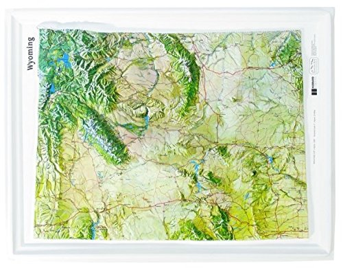 Amazon.com : American Education Raised Relief Map: Wyoming NCR ...