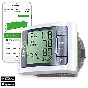Blood Pressure Monitor Wrist with Bluetooth - Large Screen Display - Clinically Accurate & Fast Reading - FDA Approved - BPM-337BT by iProvèn (BPM Wrist) (1)