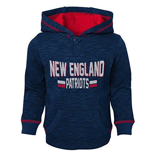 Outerstuff NFL New England Patriots Kids & Youth Boys Tiny Linemen Slub Fleece Hoodie, Dark Navy, Kids Small(4)