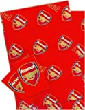 Arsenal FC Papier Cadeau, 2 feuilles et 2 Étiquettes Cadeau