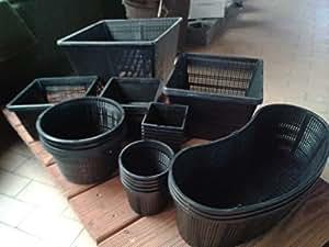 28macetas. 8diferentes tamaño de 11–35cm Estanque Plantas cesta para plantas teic