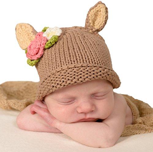 Fawn Beanie - Huggalugs Baby Doe Newborn Girl or Boy Hospital Hat