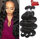 Voguetrend Hair 7A Grade 4 Bundles Brazilian Virgin Hair Body Wave 100% Human Hair Extensions Remy Human Hair Natural Color Soft (20 22 24 26)