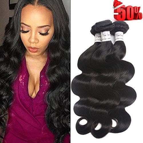 Voguetrend Hair 7A Grade 4 Bundles Brazilian Virgin Hair Body Wave 100% Human Hair Extensions Remy Human Hair Natural Color Soft (20 22 24 26) by voguetrend hair