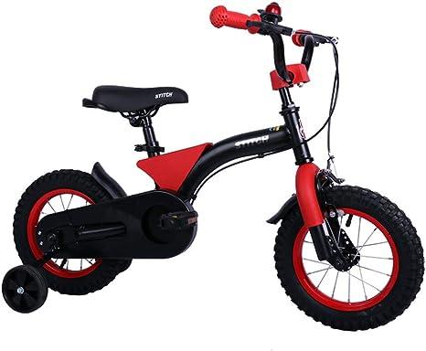 TSDS Bicicleta para niños Moda Bicicleta Bicicleta roja al Aire Libre Bicicleta de montaña Moderna de 12 Pulgadas: Amazon.es: Deportes y aire libre