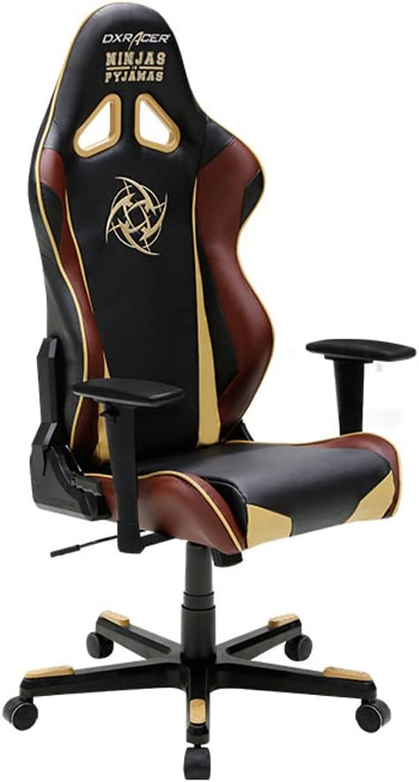 DXRacer Racing Series DOH/RE126/NCC/NIP Ninjas In Pyjamas Racing Bucket Seat Office Chair Gaming Chair Ergonomic Computer Chair Desk Chair Executive ...