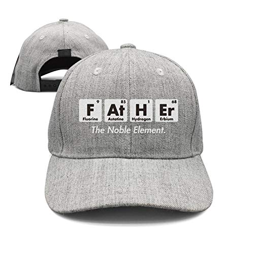 Father Element Gift for Dad Fathers Day Science Grey Trucker Cap Vintage Flat Hat for Men/Women mesh Trucker Hats