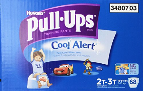 Pull-Ups Training Pants with Cool Alert for Boys, 68 Count