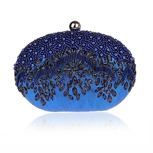 Bling Bean Shape Pearls Rhinstone Wallet Hard Case Crossbody Bag Costume Ball... ()