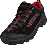 NORTY Mens Cotton Traders Hiking Trail Walking Sneaker, Black, Charcoal, Red 39055-10D(M) US