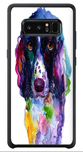 Zenzzle for Samsung Galaxy Note 8 - Colorful English Springer Setter Spaniel Dog Portrait Art - Shock Absorption Protection Phone Cover Case