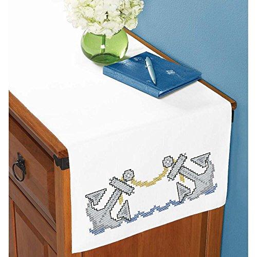 Herrschners® Anchors Dresser Scarf Stamped Cross-Stitch