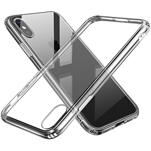 iPhone Xs Case, Sankmi iPhone Xs Clear Case, Crystal Clear TPU Slim Lightweight Cover Hybrid Scratch Resistant Transparent Back with Cushion Protection Case for Apple iPhone X/10/Xs - Crystal Clear