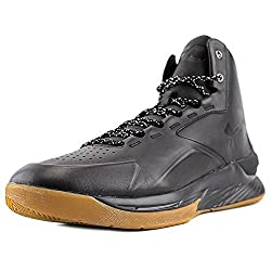 Under Armour Men's Ua Curry 1 Lux Mid Lth Blkblkblk Basketball Shoe 10 Men Us