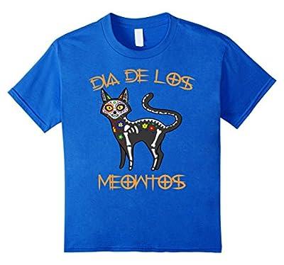 Funny Black Cat Skull Meow Shirt Day of Dead Halloween Shirt