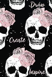 Draw. Create. Inspire.: Sketch Pad (Pink Skulls)