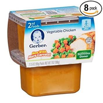 Gerber 2nd Foods Vegetable Chicken Baby Food 7 Ounce 8 Per Case
