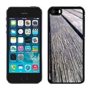 Fashionable Custom Designed iPhone 5C Phone Case With Old Wood Planks_Black Phone Case