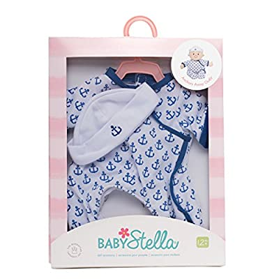 Manhattan Toy Baby Stella Anchors Away Baby Doll Clothes for 15