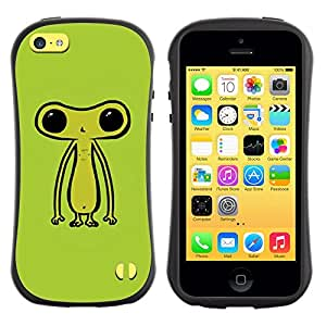 Suave TPU GEL Carcasa Funda Silicona Blando Estuche Caso de protección (para) Apple Iphone 5C / CECELL Phone case / / Ufo Extraterrestrial Being Green Cute /